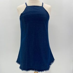 Haoduoyi Short Fitted Sleeveless Denim Jeans Dress